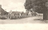 Postcard of The Green, Sawtry, showing Chequers Public House, also Burtons the Drapers.