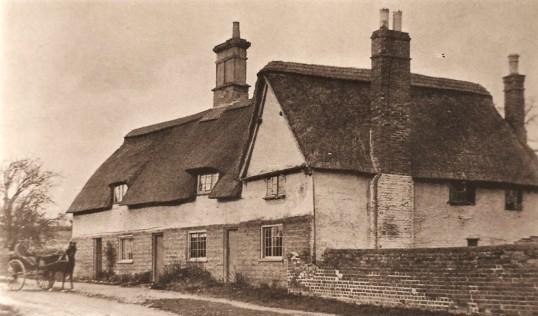 Cottages in Glatton Village.