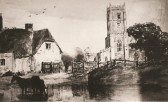 View of St Nicholas Church, Glatton Village. Believed to be a Heathcote painting.