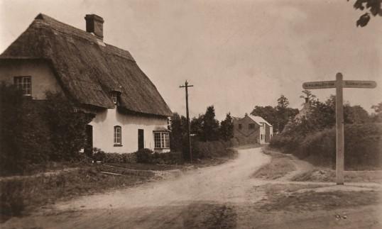 No. 2 Sawtry Road,& the crossroads Glatton Village.