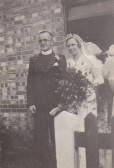 Revd Frank Reedham & Vera Stanyon on thier wedding day in the Chapel, Sawtry.