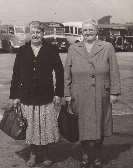 Kate Wright & Mrs Beaver of Sawtry, on a day trip.