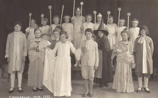 'Cinderella' being performed in the Sunday School Hall at the Methodist Chapel, Sawtry.