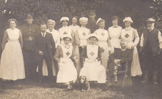 Whitehall, Convalescent Hospital, Sawtry. During the WW1.