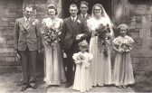 The wedding of Ernest Richardson & Hazel J Rowell of Sawtry.