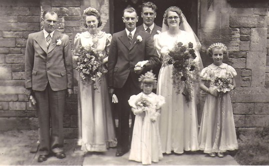 The wedding of Ernest Richardson & Hazel J Rowell of Sawtry.