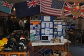 Royal British Legions 40s Day, at the Sawtry Club, Sawtry. Sawtry History Society's stand.