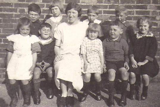 Miss Clark's class at Sawtry School, Sawtry.