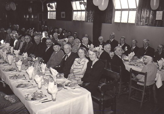 Feast Supper when held in the school hall Church Street, Sawtry.