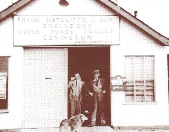 Frank Ratcliffe & Son,Cross Roads Garage, Conington.