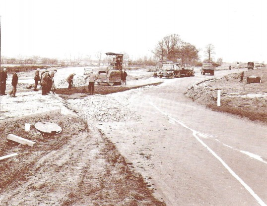 Duel carriageway being constructed at Conington bends, Between Conington & Sawtry.