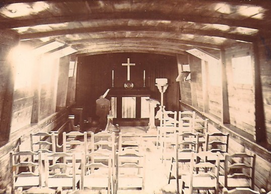 View inside St Withburga's floating church Holme. (Fenland Ark)