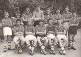 School football team, Holme Village.