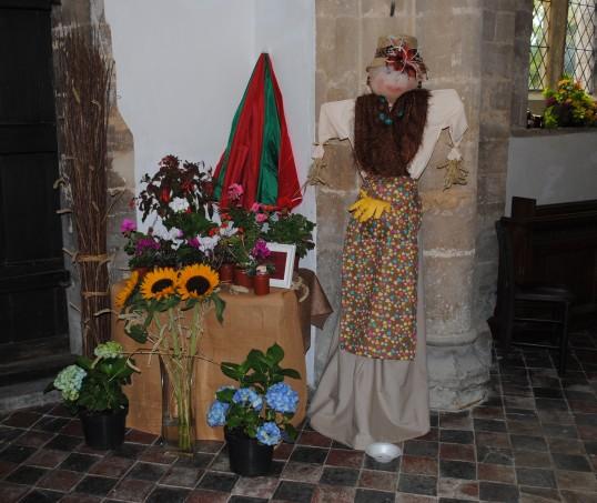Harvest Festival at St Nicholas Church, Glatton.