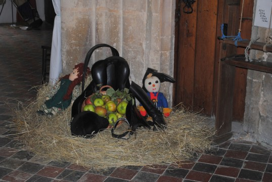 Harvest Festival at St Nicholas Church, Glatton.