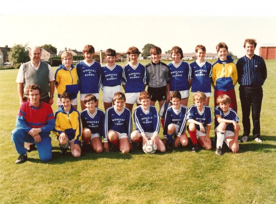 Begining of the Sawtry Colts, sponsored by Wooley & Harris estate agents of Sawtry.