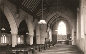 Inside view of All Saints Church, Sawtry, note the gas lights.