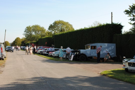 1940s weekend in Holme Village. Vintage Cars on show.