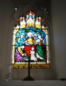 Thanksgiving Day at All Saints Church, Sawtry. (East Window, in memory of George Frederick Newton).