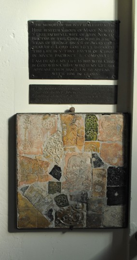 Thanksgiving Day at All Saints Church, Sawtry. (Plaque dedicated to Mary Newton, died 1633).