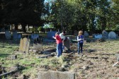 Friends of All Saints Church,Sawtry. Work clearing the churchyard still in progress.