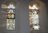 Thanksgiving Day at All Saints Church, Sawtry. Two staind glass windows in the south wall of the Chancel.