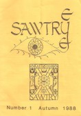 The first edition of the Sawtry Eye, published by Caresco.The cover was designed by Sue Simmons.