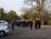Remembrance Sunday at All Saints Church, Sawtry. (The parade is dismissed).