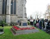 Remembrance Sunday at All Saints Church, Sawtry. (After the laying of the wreaths)>
