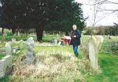 All Saints Church, Sawtry, Churchyard Survey (Some of the team members recording the gravestones.)