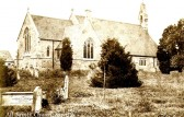 All Saints Church, Sawtry.(Note the gravestone of Susannah Dann who died in 1878.)