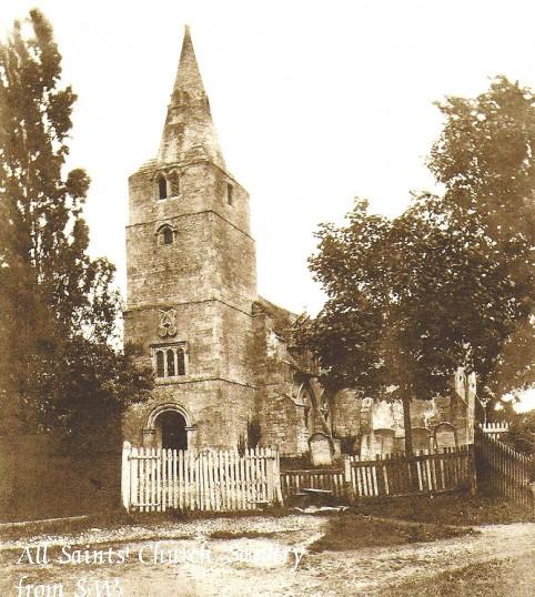 All Saints Church, Sawtry. Before It's Demolishion in 1879.