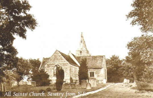 All Saints Church, Sawtry. Before It's Demolishion in 1879.