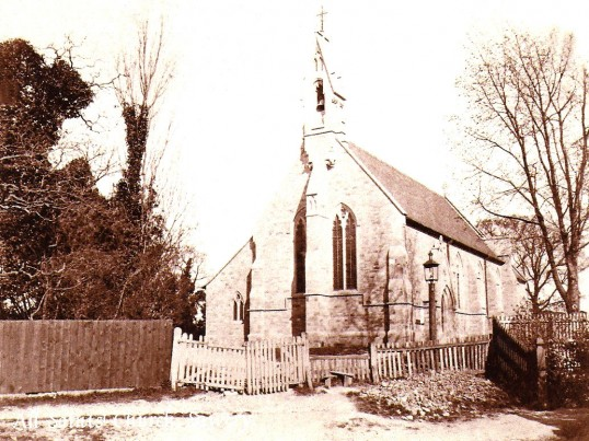 All Saints Church, Sawtry. After being rebuilt in 1880
