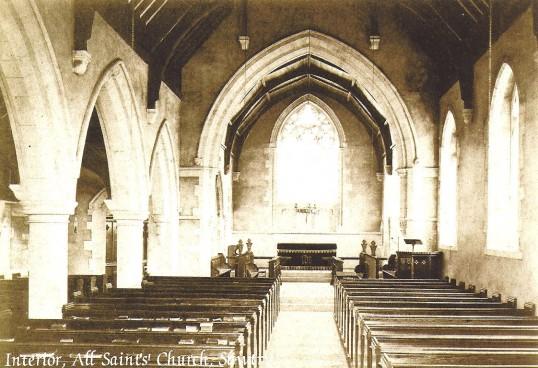 All Saints Church, Sawtry. Interior.