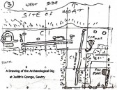 Judith's Grange Archaeological Dig, Sawtry. (A drawing of the site.)