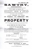 Notice of Sale by Auction, of three cottages that were once on the site of Cooper's Garage, Green End Road, Sawtry.