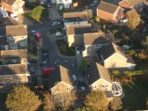 Aerial view of Maple Close, Sawtry. Photograph by Nathan Thynne.