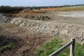 Creating a wetland  part of the drainage scheme, on the Gidding Road Developement, Sawtry.