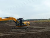 Putting the finishing touches to the wetland, for the Gidding Road Developement, Sawtry.