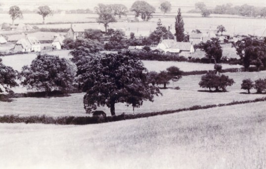 Sawtry from the hills looking toward Green End.