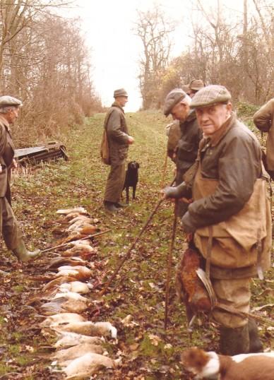 Tom Joyce of Sawtry, on a pheasant shoot in Leighton Wood, Leighton Bromswold.