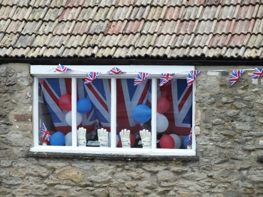 Diamond Jubilee decorated buildings in Sawtry.