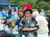 "Diamond Jubilee, ""picnic in the park "" St Judiths Field, Sawtry. The Queen of the picnic."