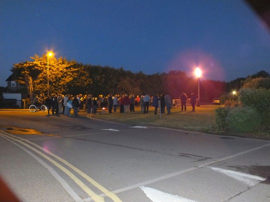 Queens Diamond Jubilee, lighting of the Beacon, Sawtry.(The beacon burning bright'ly)