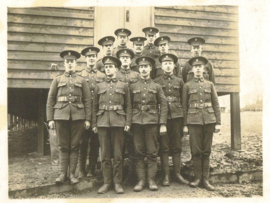 Private George Bickerton, Taken before he went to France 1915.Later came to Whitehall Convalescent Hospital, Sawtry.