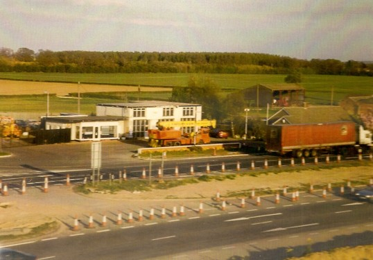 Rattcliffs Garage on the old A1 near Conington when it was a duel carriageway.