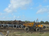 The Gidding Road Development, Sawtry. (Laying of the drains & sewers begins.)