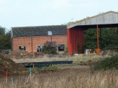 Sawtry Garage,rear view & Barn, on the Gidding Road Development, Sawtry. (Soon to be demolished).