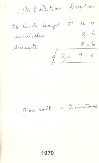Sawtry, Junior School,accounts of school party.